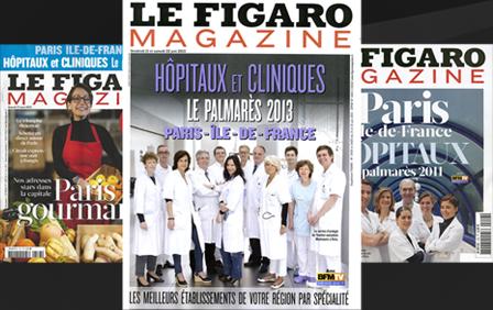 Au classement Le Figaro Magazine  Pour la troisème année consecutive, le CMCO est placé premier par le Figaro Magazine pour la chirurgie bariatrique.